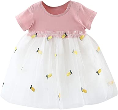 Newborn Kids Baby Girls Party Unicorn Dress Skirt Sundress Outfits Clothes 0-7T