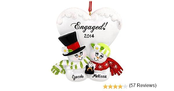 Amazon.com: Personalized Engaged Couple Christmas Holiday Gift ...