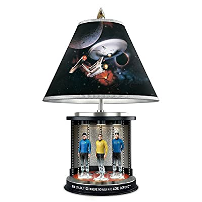 Star Trek Illuminated Transporter Tabletop Lamp With Kirk Spock And McCoy by The Bradford Exchange