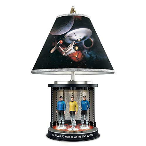 Star Trek Illuminated Transporter Tabletop Lamp With Kirk Spock And McCoy by The Bradford Exchange by Bradford Exchange