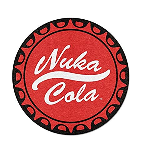 (JUST FUNKY Official Fallout Nuka Cola Logo Design Round Blanket/Tapestry, 220 GSM Coral Fleece, Set of 1, 48 inches)