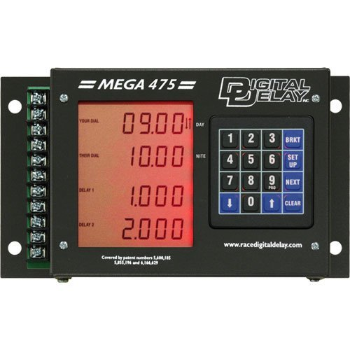 Biondo DDI-1095-BR Mega 475 Digital Delay Box Black Case Red Display ()