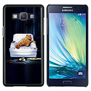 """Be-Star Único Patrón Plástico Duro Fundas Cover Cubre Hard Case Cover Para Samsung Galaxy A5 / SM-A500 ( Gracioso - Lazy Garf Gato"""" )"""