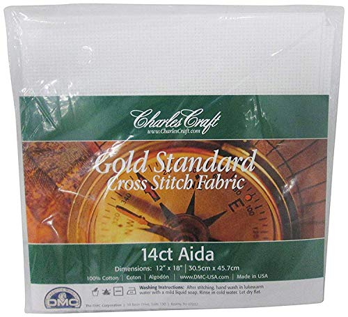2 Pack 12 by 18-Inch White DMC CR5440-6750 Classic Reserve Aida 14 Count