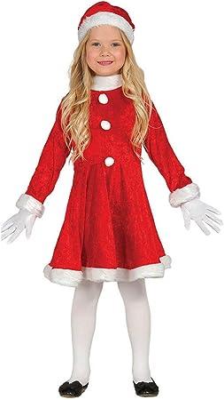 Guirca- Disfraz niña Papá Noel, Color rojo, 5-6 años (42832.0 ...