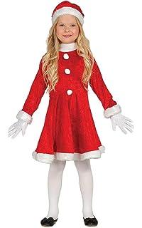 SmiffyS - Disfraz Mamá Noel con Vestido y Gorro para Niñas ...