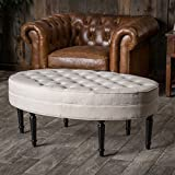Great Deal Furniture Versailles Tufted Top Ottoman Coffee Table