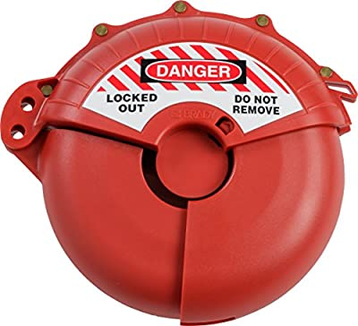 """Brady Collapsible Gate Valve Lockout Device - Compatible with Gate Valves 3-7"""" in Diameter - Red - 148648 from Brady Corp"""