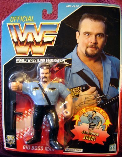 (WWF Big Boss Man Wrestling Action Figure by Hasbro WWE WCW)