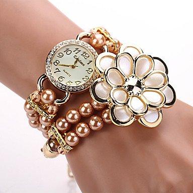 R. - Bracelet Daniel Wellington 2015 Women Designer Brand Wristwatch Pearl Luxury Flower Watches ( Color : White )
