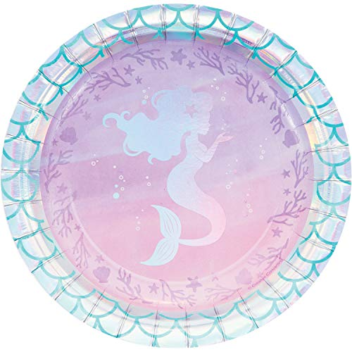 Iridescent Mermaid Party Dessert Plates, 24 ct]()
