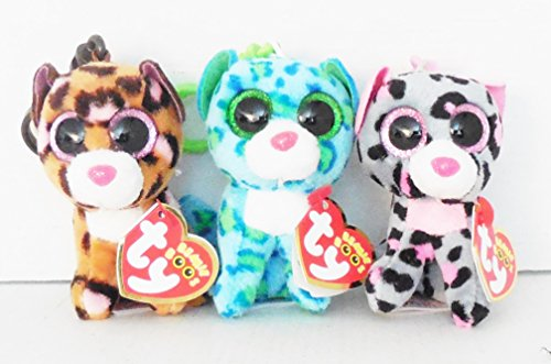 Ty Clips Set of 3 Beanie Boos Leopards - - Leona Leopard Shopping Results