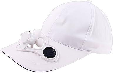 Gorra para hombre y mujer con ventilador de energía solar, gorra de béisbol, gorra deportiva, gorra