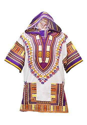 Chemise Imprimé Lofbaz Design Traditionnelle Blanc Violet 1 Dashiki Africaine Royal Unisexe Et Robe qBaB45