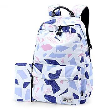 SQB Patrones geométricos, mochila, tela de agua a prueba de ...
