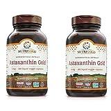 Nutrigold Supercritical Extract of Astaxanthin Gold 4 Milligrams (120 Liquid Veggie Capsules) Pack of 2