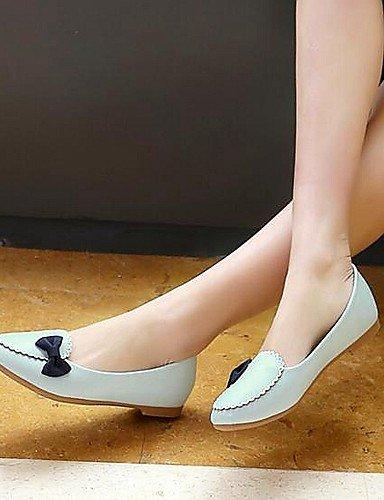Venta zapatos Oficina Cn39 Azul Nuevo Eu39 Pdx Taln White Libo luz Flats Comfort casual Mujer Y Plana Carrera La De Caliente Estilo Uk6 us8 blanco Rosa 8xqzd