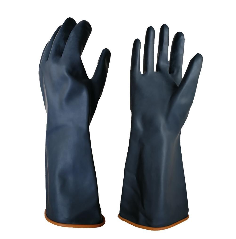 DAN Heavy Duty Latex Gloves, Resist Strong Acid, Alkali and Oil, 1 Pair , 45CM