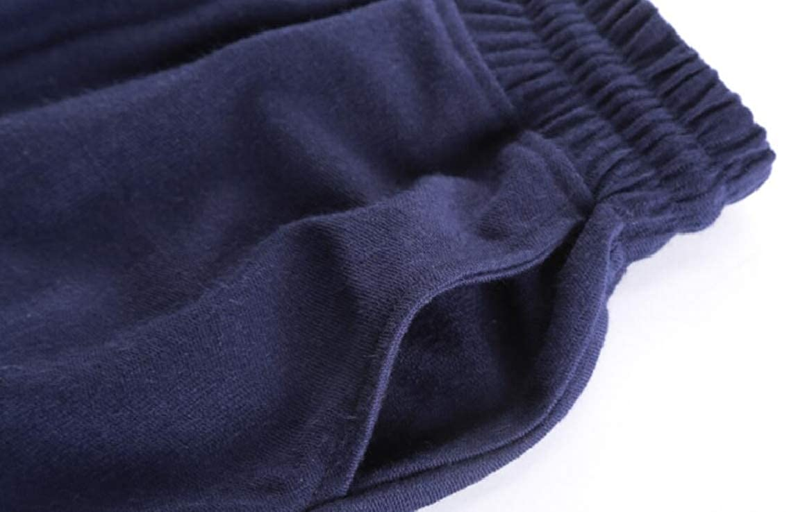 YYG Mens Drawstring Multi Pockets Workout Basic Elastic Waist Long Pants