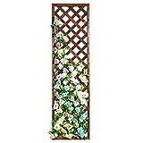Rectangular Wood Garden Trellis, Wall Mounted Lattice Plant Screen, Brown