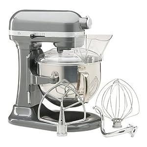 KitchenAid KP26M1PSL Professional 600 Series 6-Quart Stand Mixer, Silver