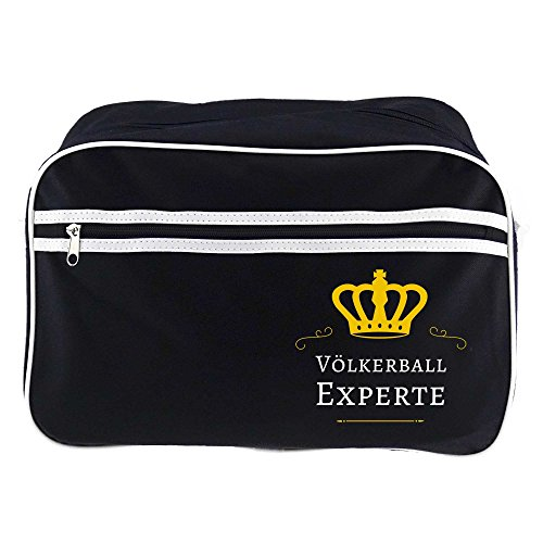 Retrotasche Völkerball Experte schwarz