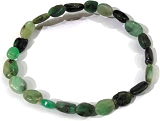Reiki Crystal Products Emerald Bracelet Oval Shape Stone Bracelet for Reiki Healing and Crystal Healing Stones