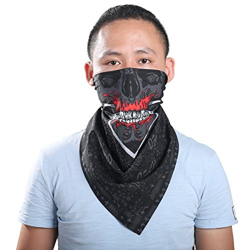 Cowboy Mask (Bandana - Colorfast Pirate Bandana Cowboy Scarf for Men and Women(24.5
