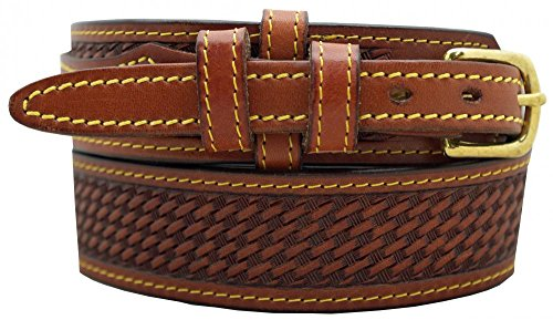 Basketweave Embossed Belt (Men's Ranger Belt 1 1/2