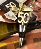 50th Anniversary Wine Bottle Stopper Favors (Set of 48)