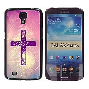 Paccase / SLIM PC / Aliminium Casa Carcasa Funda Case Cover para - Christ Snow Pink Purple God Religious - Samsung Galaxy Mega 6.3 I9200 SGH-i527