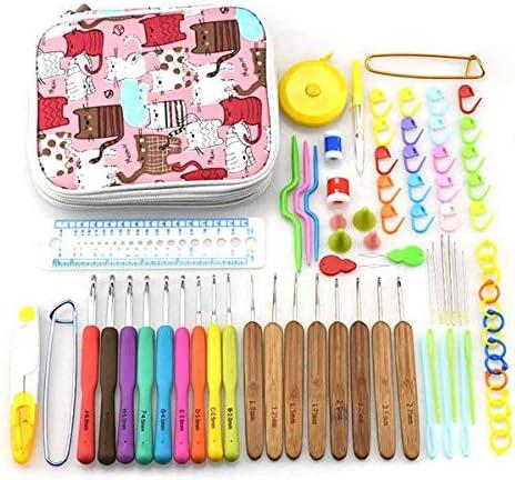 Ganchos de crochet - Juego de agujas de ganchillo para tejer agujas de tejer con estuche para mamá: Amazon.es: Juguetes y juegos