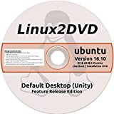 Ubuntu Linux 16.10, Release Edition, 32 & 64 Bit Combo DVD