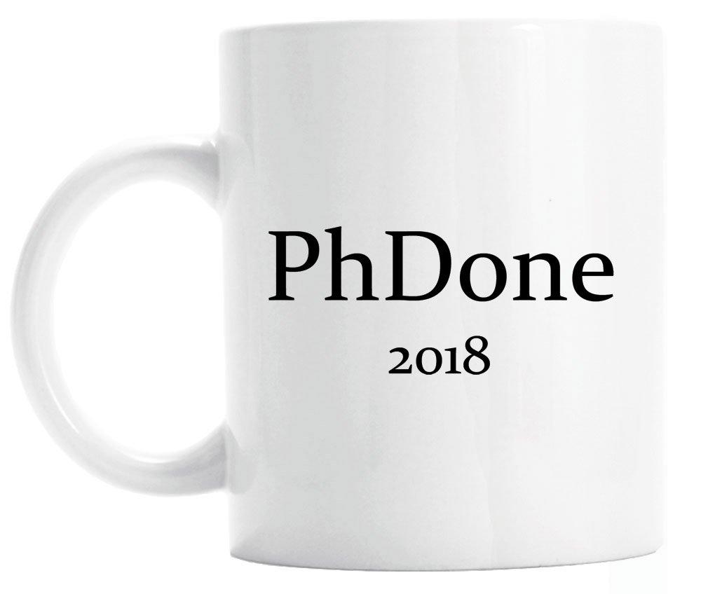 ギフトfor PhD graduate、PhDone 2018マグ、面白い卒業ギフト 15 oz 15 oz  B07C1YF5YL