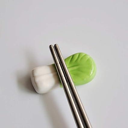 Ruiting Melon deau Chopsticks Rest Rack 6Pcs c/éramique Past/èque Figurine Cartoon Bonsai Micro Paysage D/écoration