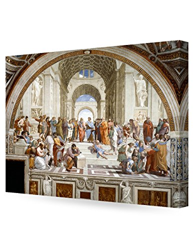 Painted Italian (DecorArts - The School of Athens, Raphael Art Reproduction. Giclee Canvas Prints Wall Art for Home Decor 30x24