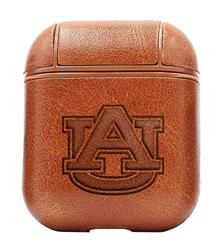 AU Auburn University (Vintage Brown) Air Pods Protective Leather Case Cover - a New Class of Luxury to Your AirPods - Premium PU Leather and Handmade exquisitely by Master Craftsmen ()