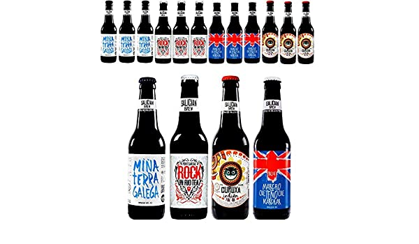 Pack 12 cervezas artesanas Galician Brew. Incluye Rock In Río Tea, Medalla de Bronce Barcelona Beer Challenge 2018: Amazon.es: Alimentación y bebidas