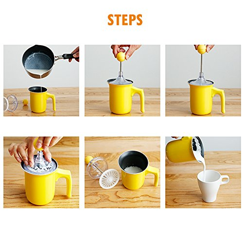 stove milk frother. TAMUME Manual Milk Frother Jug And Plunger For Cappuccino Coffee Maker, Stovetop Use Making Hot Froth Stove I