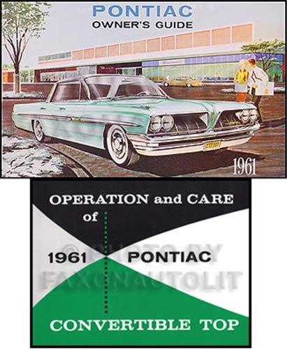 1961 Pontiac Bonneville and Catalina Convertible Owner's Manual Set