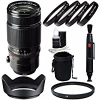 Fujifilm XF 50-140mm f/2.8 R LM OIS WR Lens + 72mm +1 +2 +4 +10 Close-Up Macro Filter Set with Pouch + 72mm Multicoated UV Filter Bundle 5