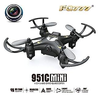 LaDicha Fq777-951C Mini con Fotocamera 0.3 MP modalità Senza Testa Rc Quadcopter Rtf - Bianco - Mode 2