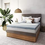 Classic Brands 3-Inch Cool Cloud Gel Memory Foam Mattress Topper With Free Cover, Twin