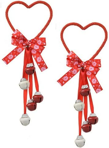 Valentines Day Door Knob Hanger Heart with Bells Decor Decoration CUTE