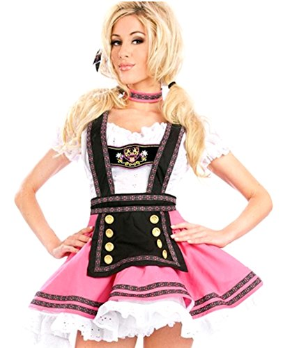 RoseSummer Halloween Flirty Fraulein Oktoberfest Outfit Fancy Dress Sexy (Sexy Wench Outfit)
