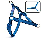 BIG SMILE PAW Adjustable Dog Harness No-Pull,Front Leash Clip Dog Harness for Walking and Training (M)
