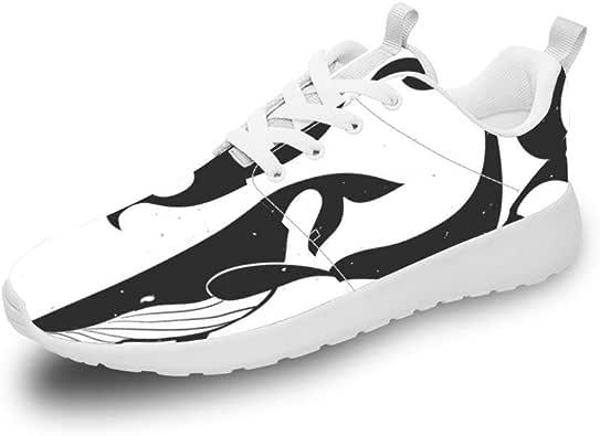 Mesllings Zapatillas de Running Unisex con Delfines Negros ...