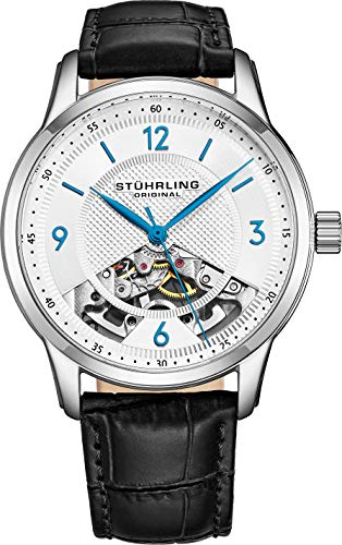 Stuhrling Original Men's 977.01 Legacy Analog Display Mechanical Hand Wind Black Watch ()