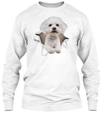 Fashionable Bichon Frise Ugly Christmas Sweater Gildan Long Sleeve Tee T-Shirt
