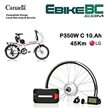 """Electric folding bike DIY Conversion KIT for Dahon Tern Brompton foldable collapsible E Bicycle 350/500W E Bike Complete Kit Front Hub Motor, Battery Li-Ion 32km/h LCD 16"""" 20"""" 24"""" 26"""" rim sizes (bicycle not included)"""